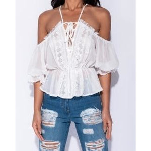 Tati Crochet Lace Top