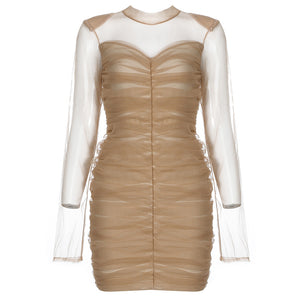 Load image into Gallery viewer, Lola Beige Dress