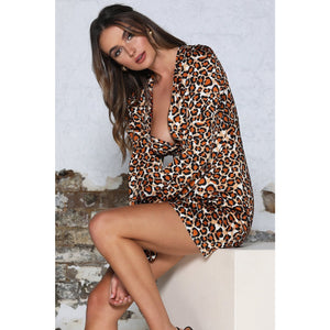 Load image into Gallery viewer, Daryl Dress - Orange Leopard