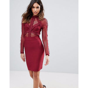 Load image into Gallery viewer, Bizza Bandage Lace Dress