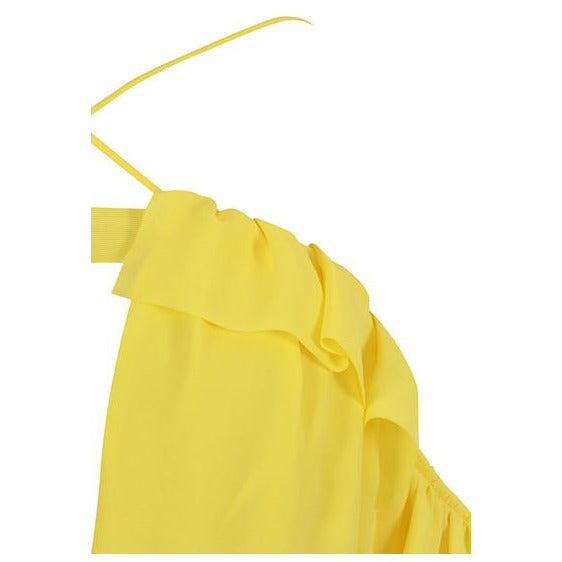 Load image into Gallery viewer, Rapli Yellow Off-shoulder Long Top