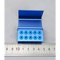 10 Hole Blue Bur Stand, Silicone Ring-JA-01025-Smile Dental
