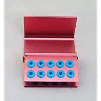 10 Hole Pink Bur Stand, Silicone Ring-JA-01026-Smile Dental