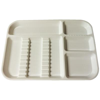 PLASDENT LOCKABLE DIVIDED TRAY SIZE B, White