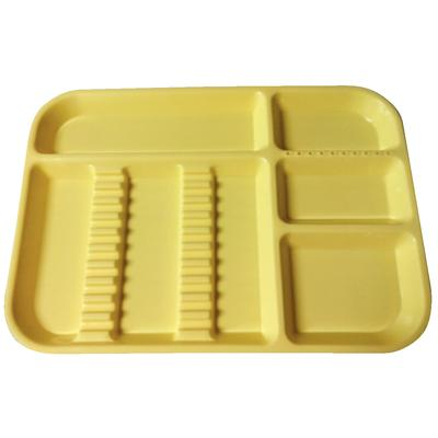 PLASDENT LOCKABLE Divided TRAY SIZE B, Neon Yellow