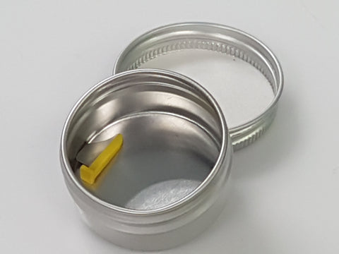 ALUMINUM ROUND TIN CAN 2 OZ WITH LID-TIN2-North America Medical Equipment Ltd.