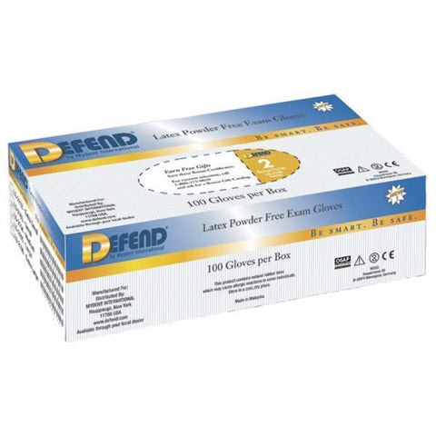 LATEX GLOVE-POWDER-FREE MEDIUM-LG-2104-Defend MyDent International