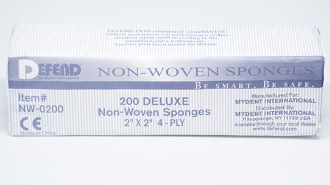 "Non Woven Sponges 2""X2"" 5000/Case-NW-0200-Defend MyDent International"