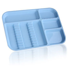 PLASDENT LOCKABLE DIVIDED TRAY SIZE B-BLUE