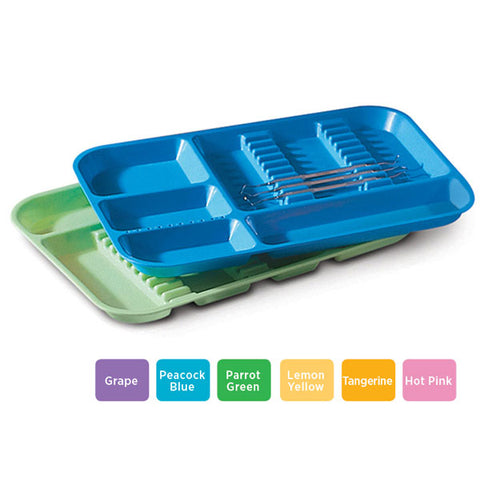 PLASDENT LOCKABLE DIVIDED TRAY SIZE B-Neon Blue