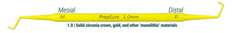 PrepSure Crown Prep Guide 1MM Yellow 1'S-92413-contacEZ