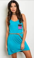 Tribal Jersey Tank Dress with Belt