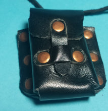 Mini Leather pouch with spell scrolls