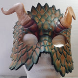 Blue Scale Dragon Mask
