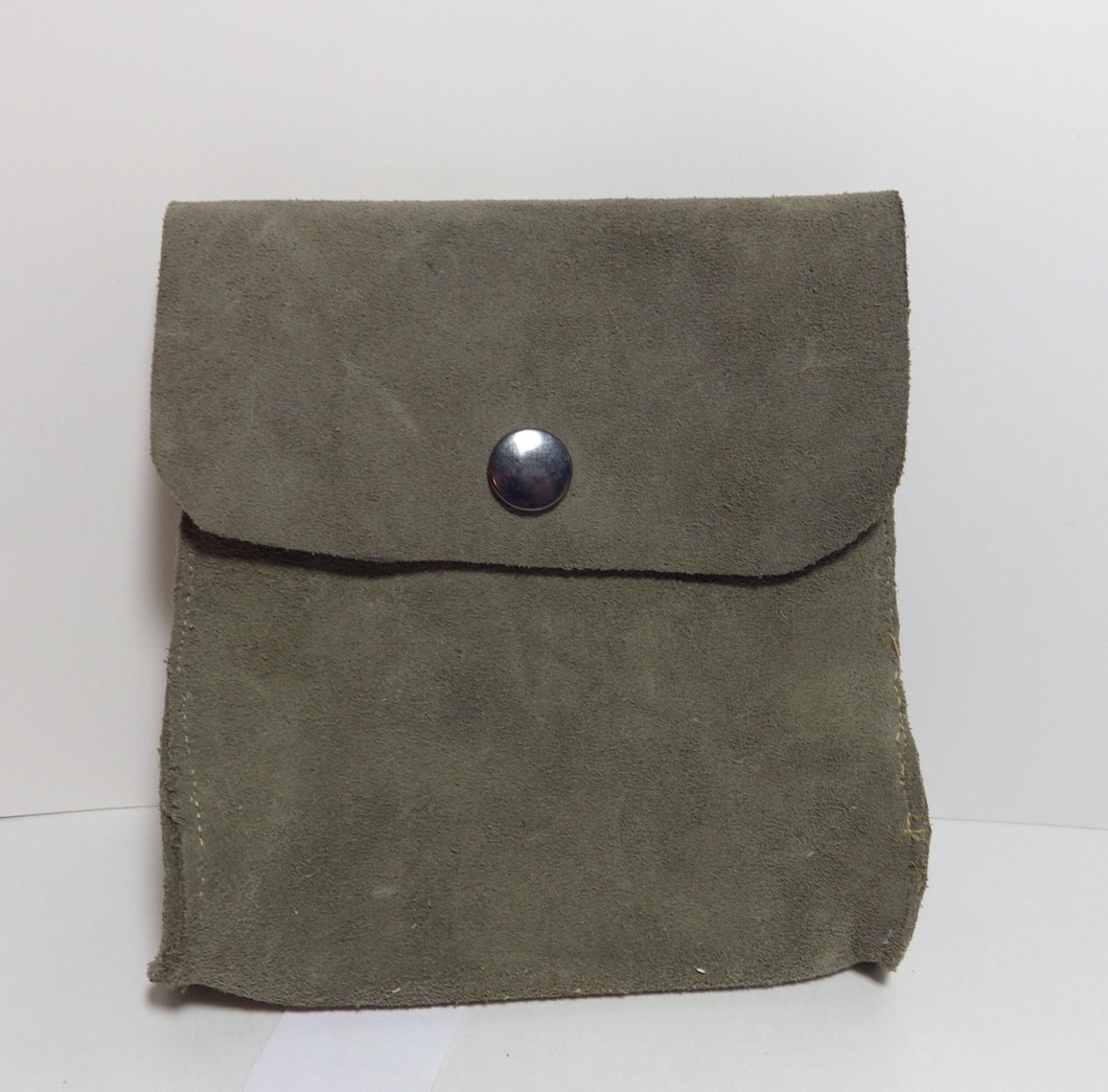 Grey Suede Pouch