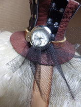 Lady of the Clock Mini Top Hat