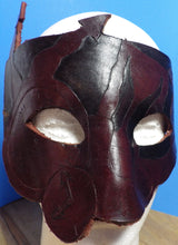 Red and Black Time Mask