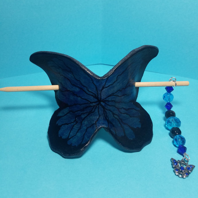 Leather Butterfly Bun Cover