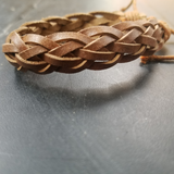 tan braid bracelet