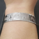 distressed metal bracelet