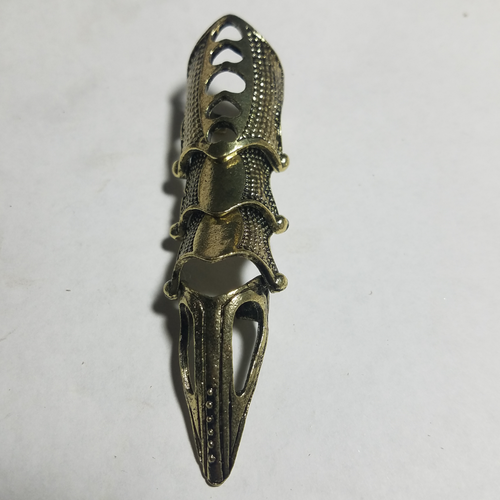 Finger armor ring armour brass