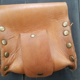 Gear Embossed Leather Pouch