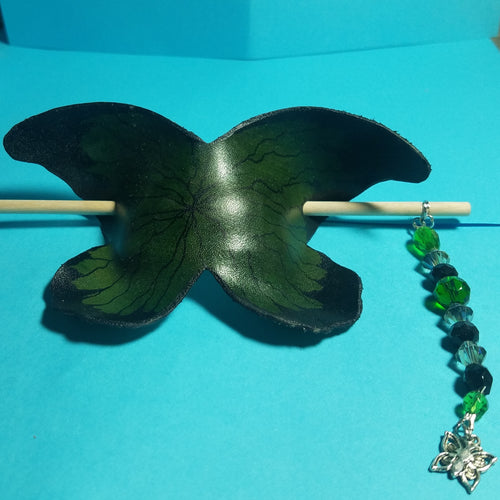 Green butterfly bun cover
