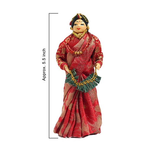 Nepali Handmade Cake Topper - Cloth Doll