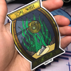 """Somewhere Beyond the Sea"" Sticker"