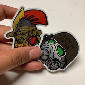 Legate Lanius and NCR helmet Sticker set