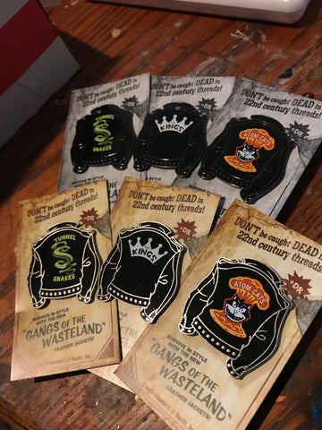 """Gangs of the Wasteland"" Pins"