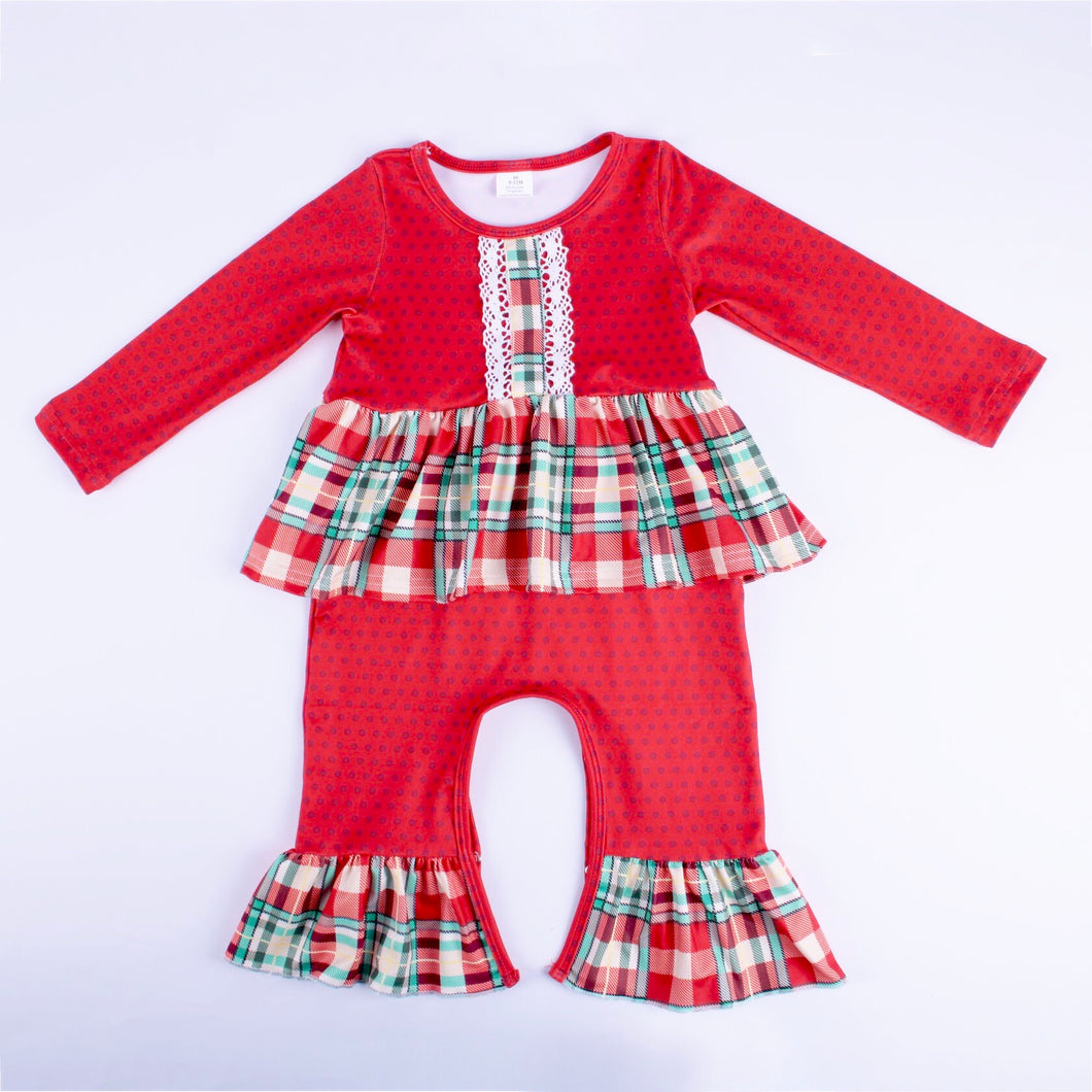 Holiday Plaid Romper
