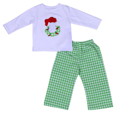 Boys Wreath Appliqué Set