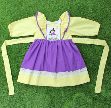 Witch Smocked Pinafore Dress