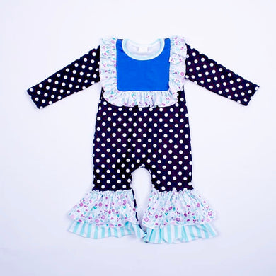Sweet Pea and Polka Dots Romper