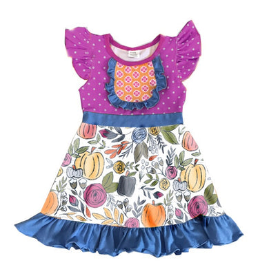 Plum About Pumpkins Ruffle Dress