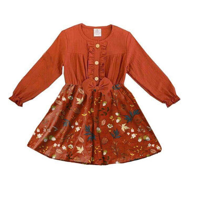 Tatum's Autumn Dress - Falling Leaves