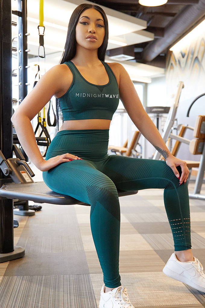 MW Hunter Green Shape Gym Leggings