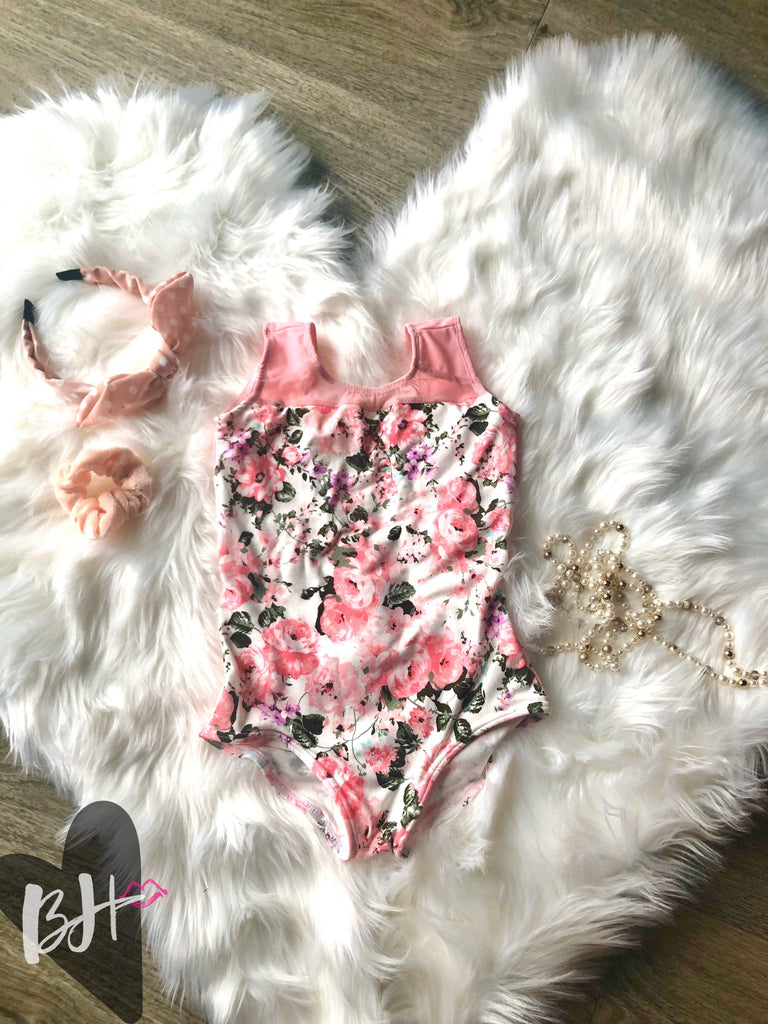 #21 Soft Pink Floral Tank Betty Harlow