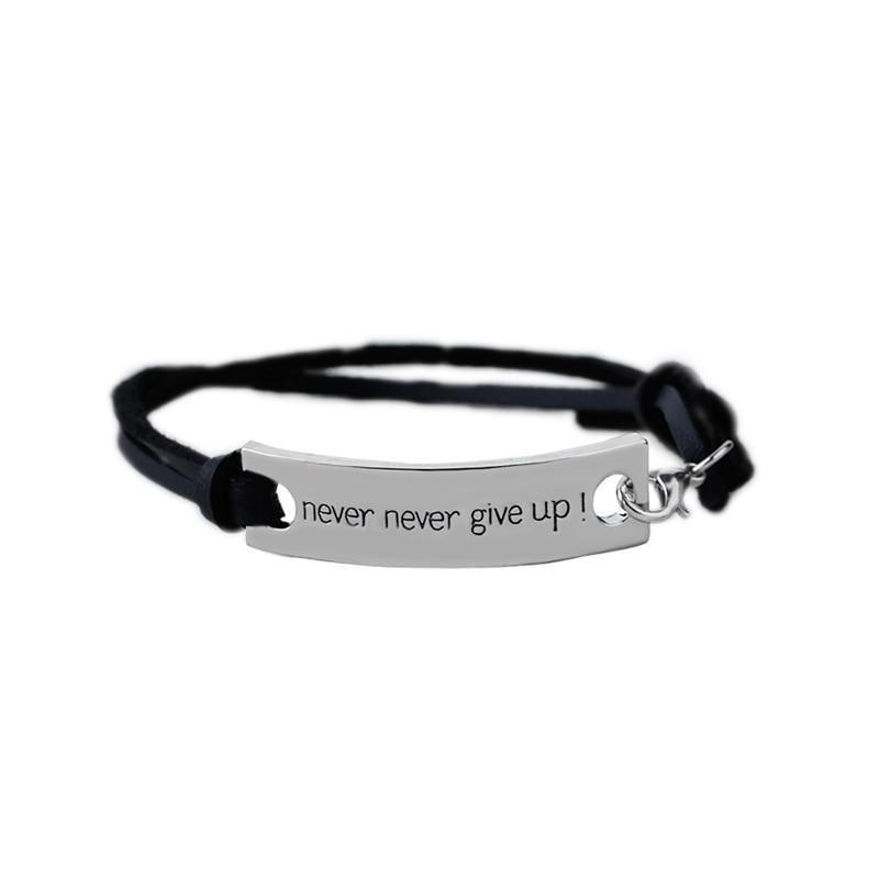 Never give up Bracelet - Yoga Beach