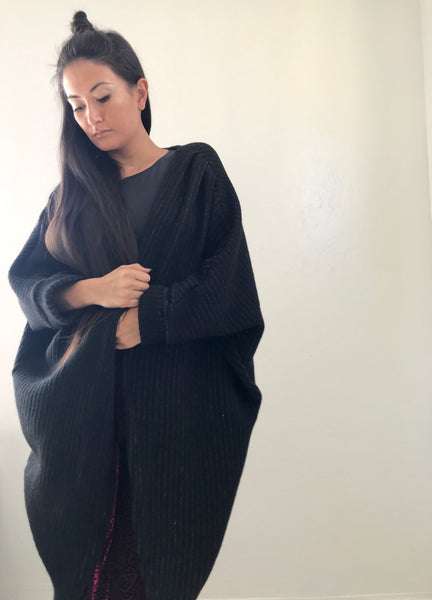 Black Knit Shawl