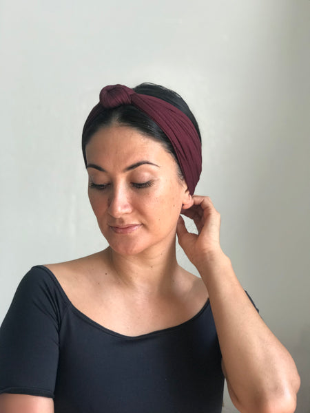 Knot Top Headband Maroon