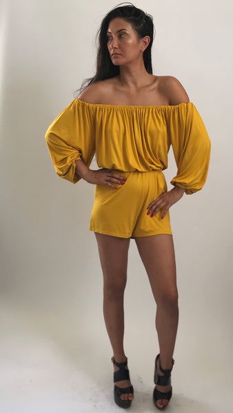 Off the shoulder romper - Yellow