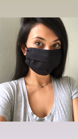 Fabric handmade face mask- Black