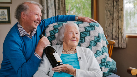 History in the bubbles… 105 and still loving her bubbly