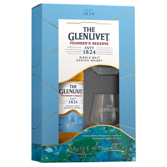 GLENLIVET 12YO 700ML GIFT PACK WITH 2 GLASSES