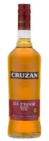 CRUZAN 151 PROOF RUM 75.5% 1L