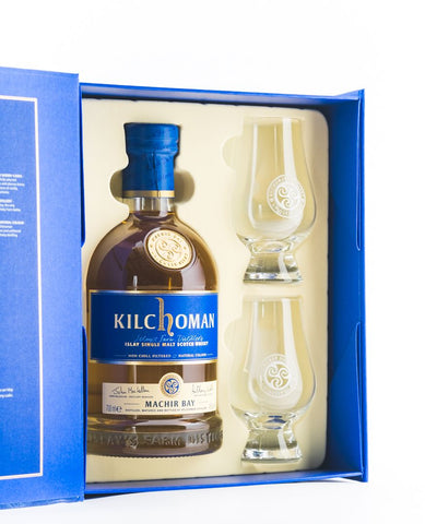 KILCHOMAN MACHIR BAY GIFT PACK W/ GLASSES 46%