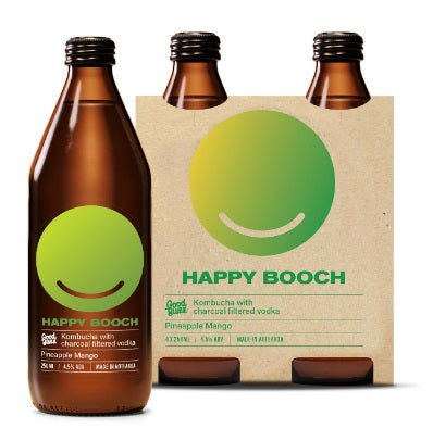HAPPY BOOCH PINEAPPLE & MANGO 4PK