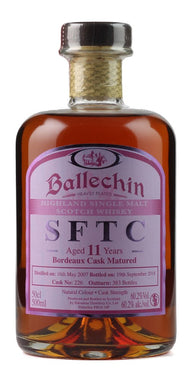 BALLECHIN 'STRAIGHT FROM THE CASK' BORDEAUX 2007 /11 YEARS OLD 60.2%